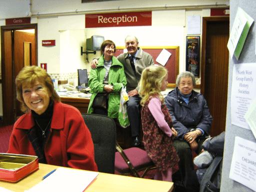 Doreen welcoming visitors
