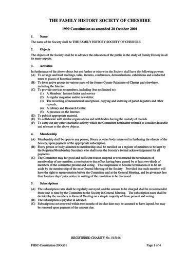 FHSC Constitution