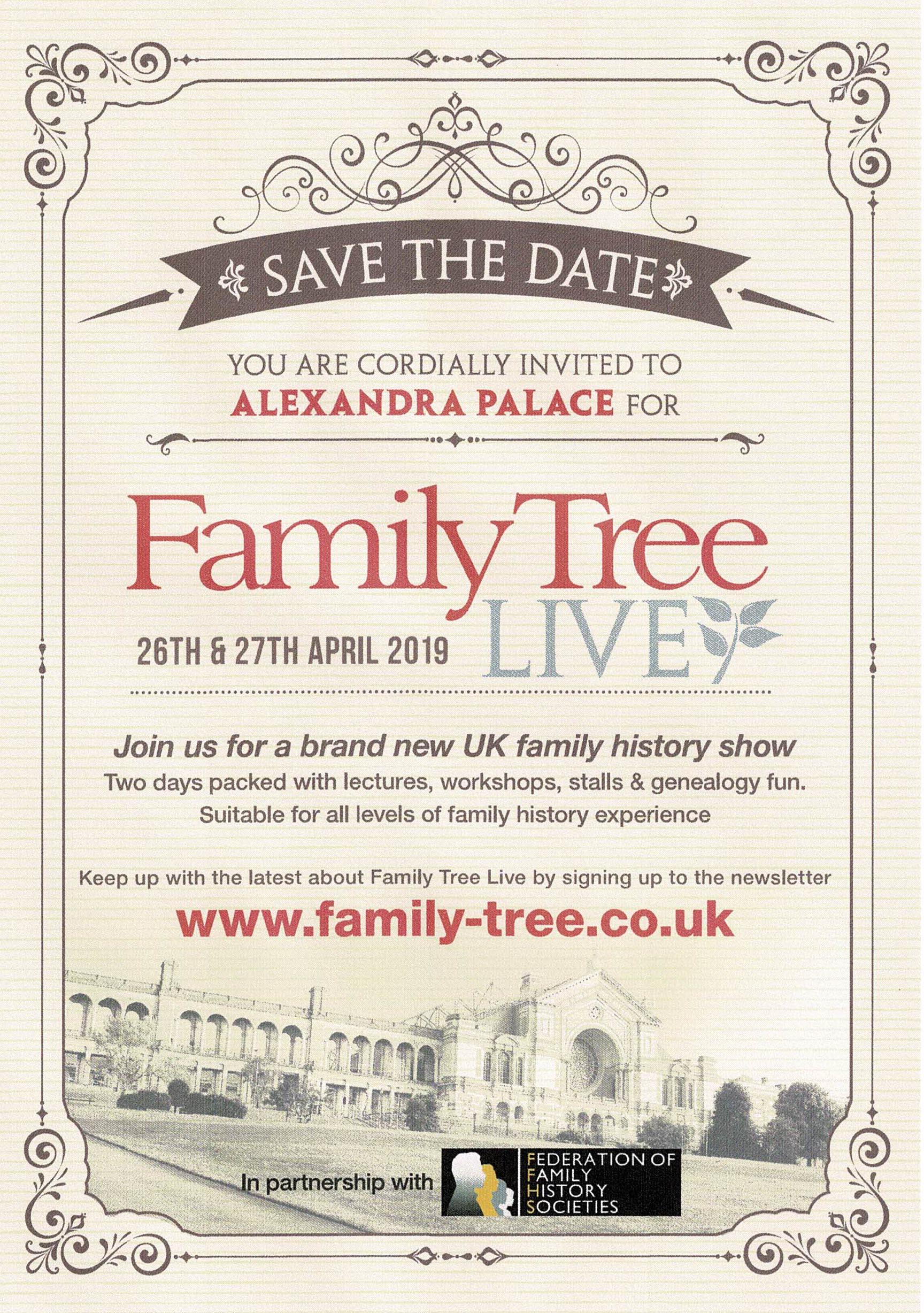 Family History Show April 2019