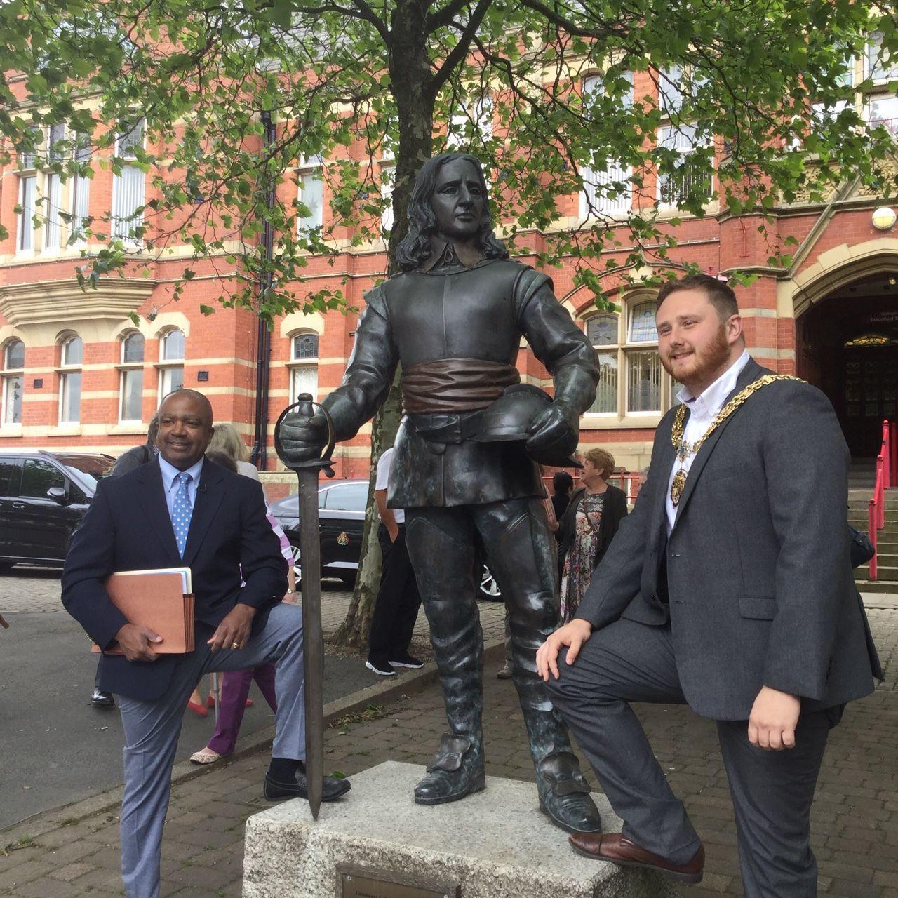 Mr Duckenfield visits Dukinfield