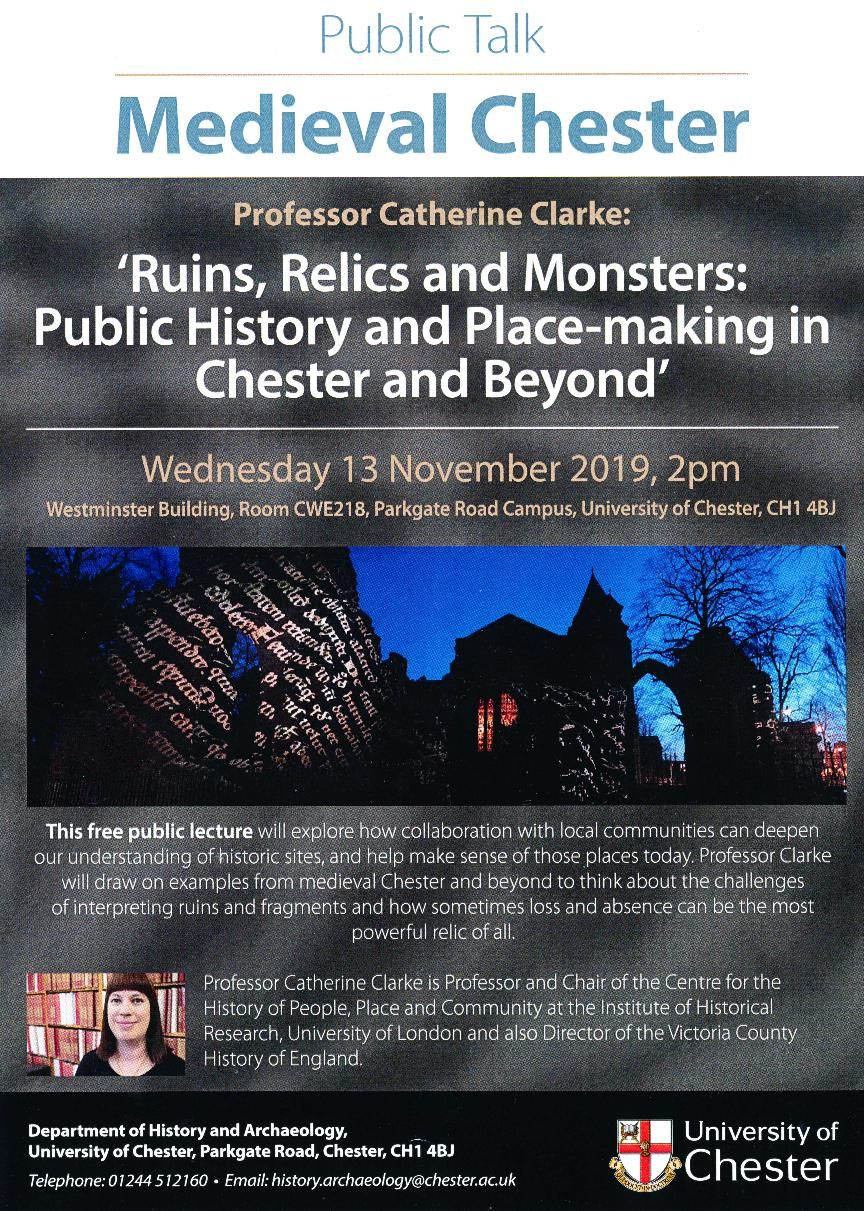 Public Talk Medieval Cheshire