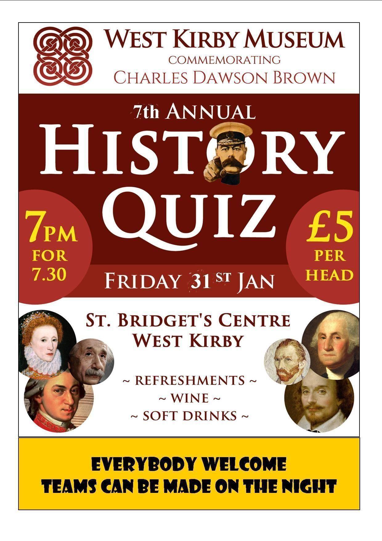 7th Annual History Quiz