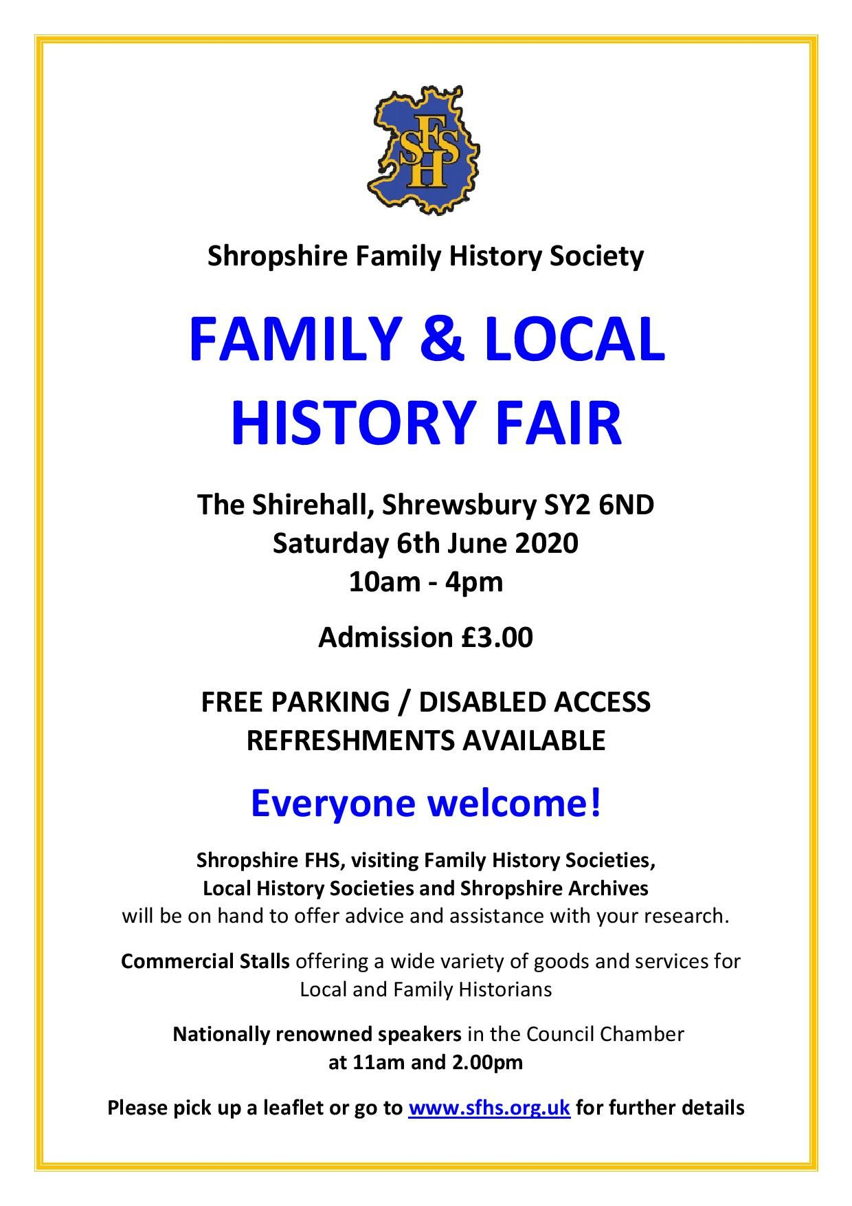 Shropshire Family History Fair