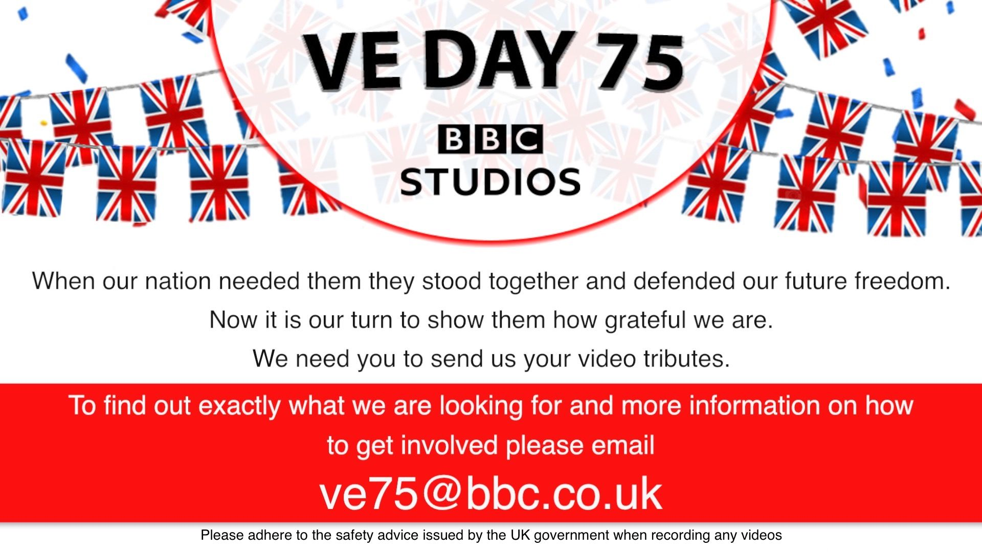 VE Day Help the BBC with your stories