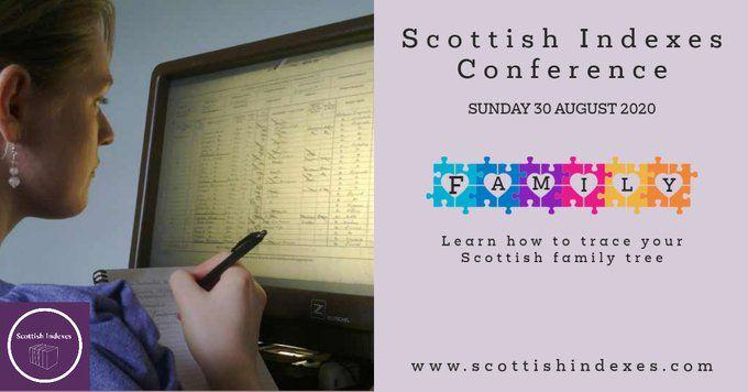 Scottish Indexes Online Conference ~  30 August