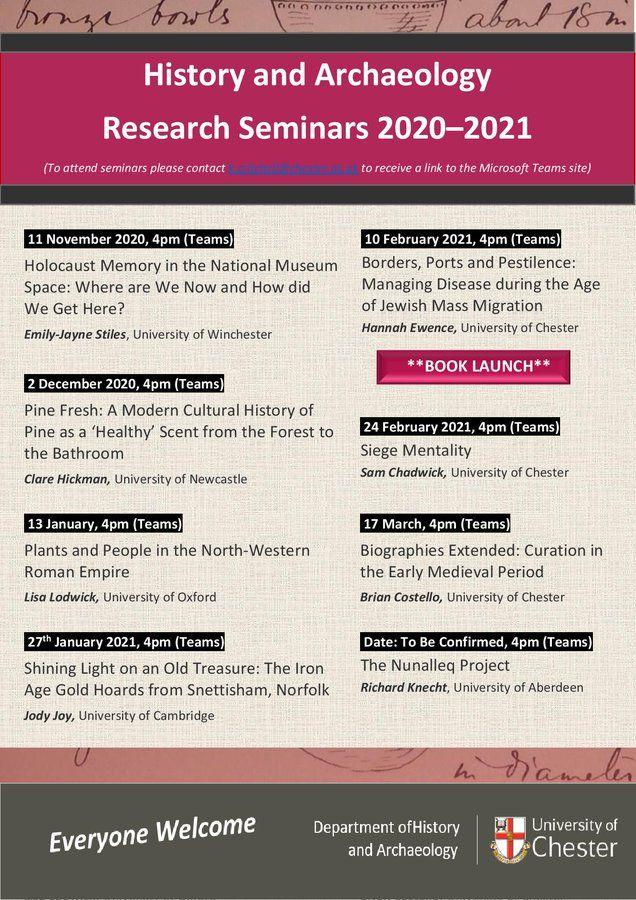 University of Chester Seminar Series