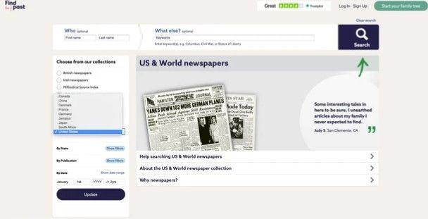 Findmypast Removes International Newspaper Collection
