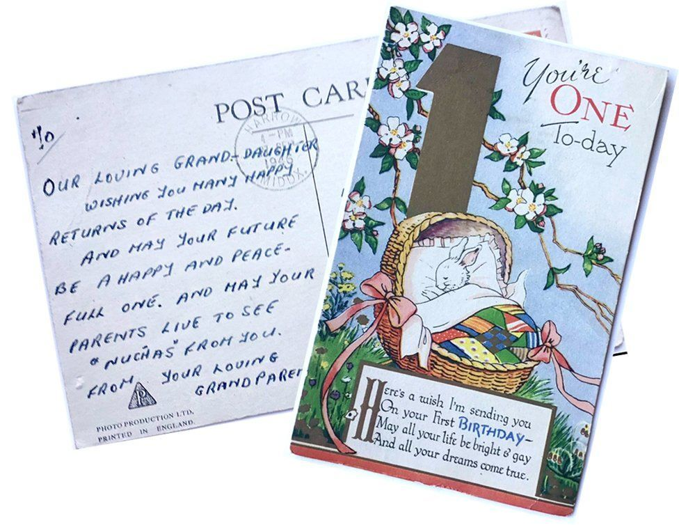 'How we re-delivered a baby's postcard - 75 years on'