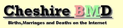 Cheshire BMD Updates