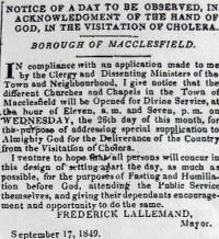 Nests of ignorance…haunts of filth, Cheshire Courts of King Cholera a talk by Claire Moores to take place via Zoom.