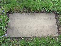 First Grave Henrietta Delamott SS Single Sister