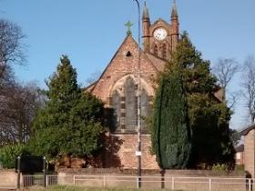 St Matthew's Parish Church with Hall on left hand side
