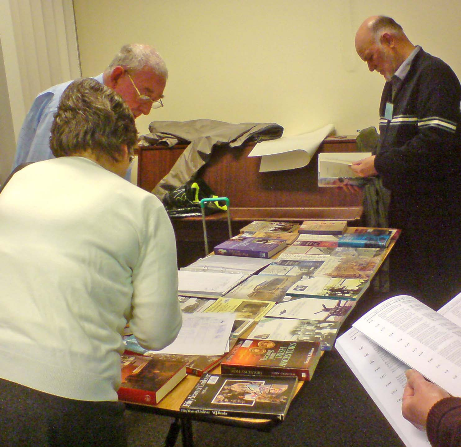 Our Librarian, Alan Roberts, brings along a selection of books from our extensive library.