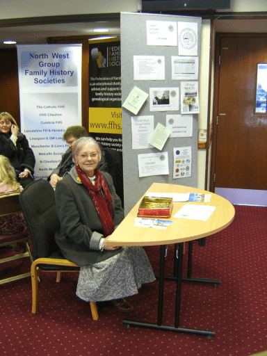 Lesley Smetham in the foyer