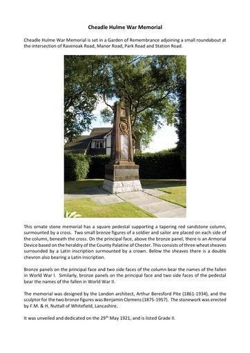 Cheadle Hulme War Memorial