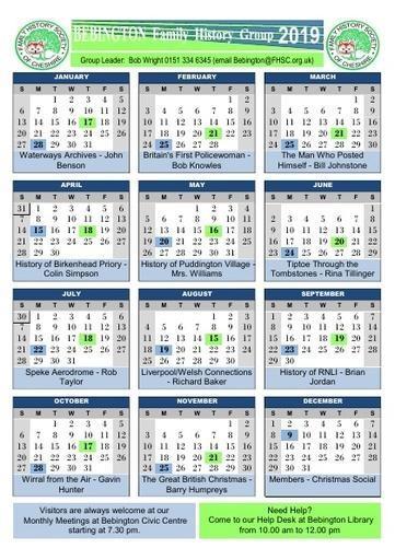 Bebington Calendar 2019