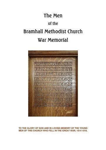 The Men of the Bramhall Methodist Church War Memorial
