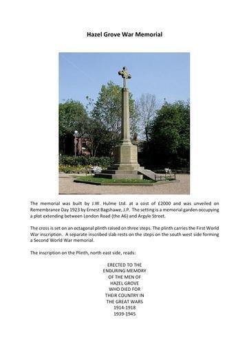 Hazel Grove War Memorial