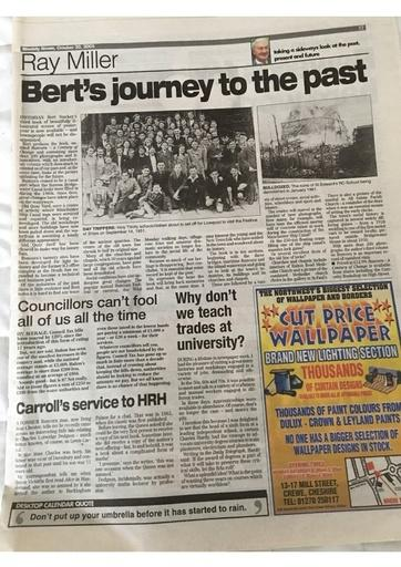 20 OCT 2005 BERTS JOURNEY TO THE PAST