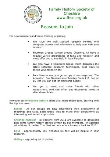 Reasons To Join