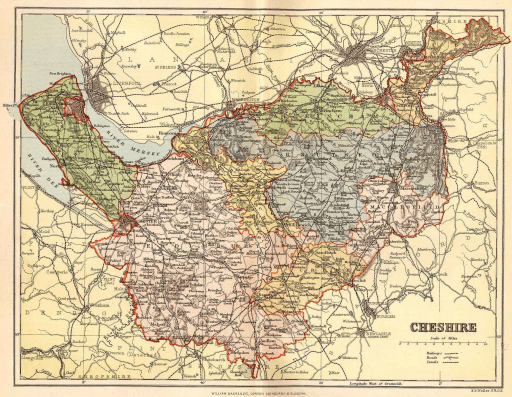 Map of Cheshire